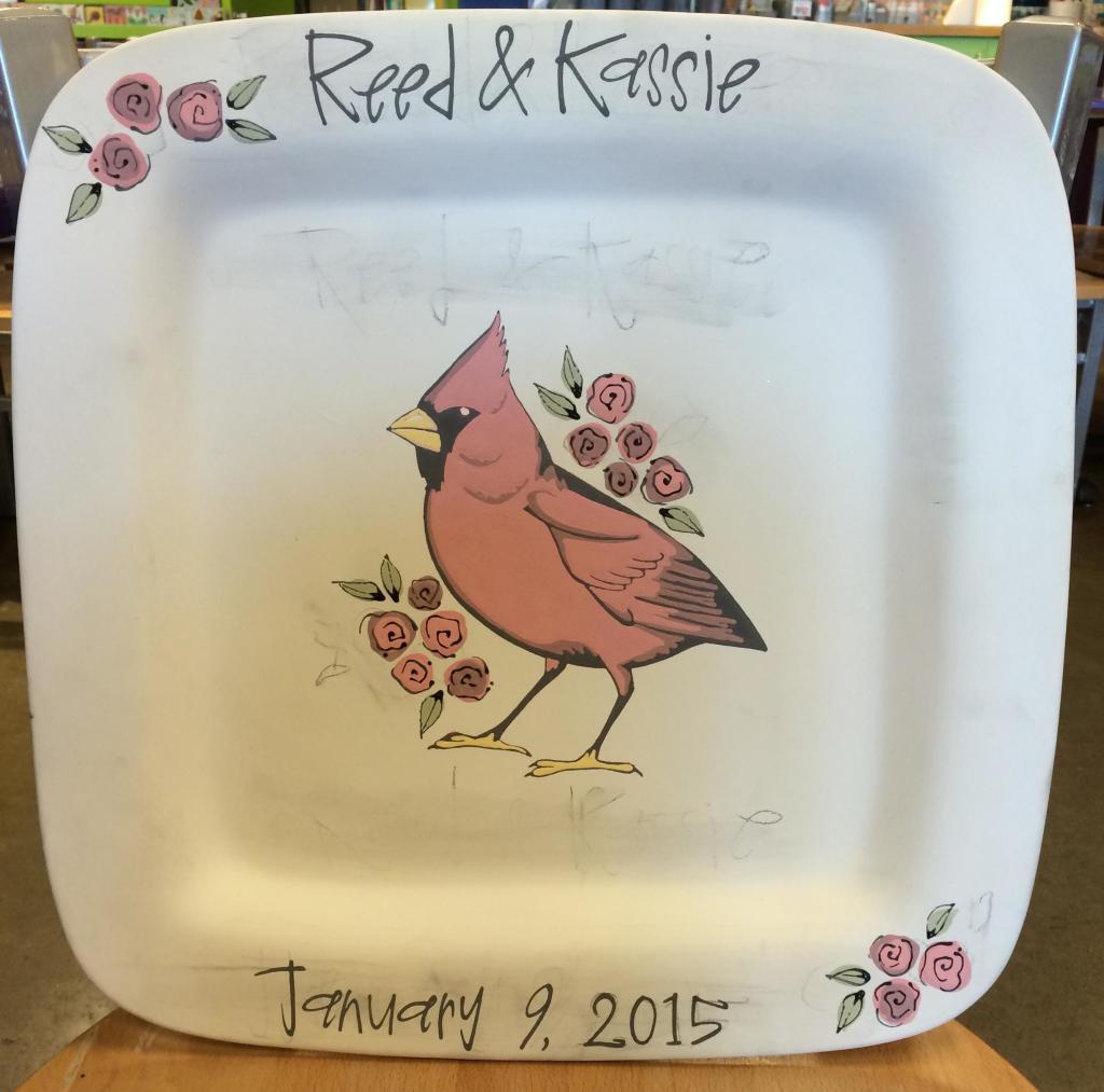 Custom Wedding Signature Platter