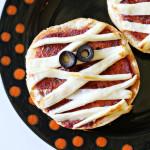 Halloween Mummy Pizza Bagels