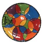 circle art plate