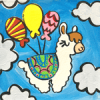 llama birthday canvas