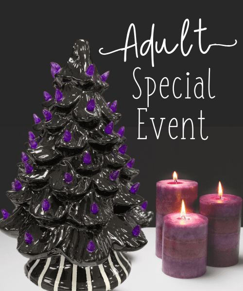 Purple Christmas Tree.10 25 Adult Special Event Nightmare Before Christmas Tree